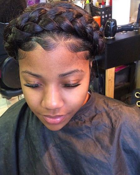 cccriss crossed braid with feed in cornrow black braided hairstyles