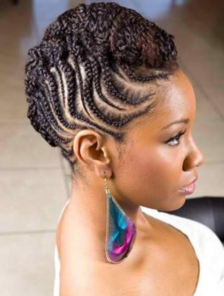 chunky moahawk braid natural braided hairstyles