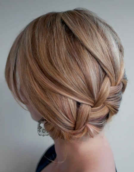classic roll updo with braid bun hairstyles