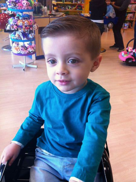 classic side parted baby boy haircuts