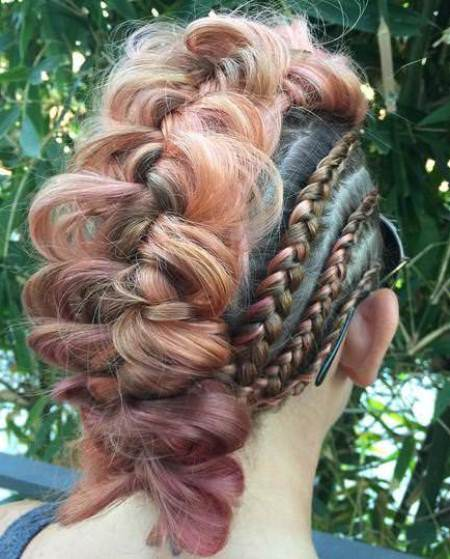 cluster of braids braided mohawks