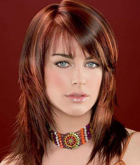 copper highlights shades of red hair for women