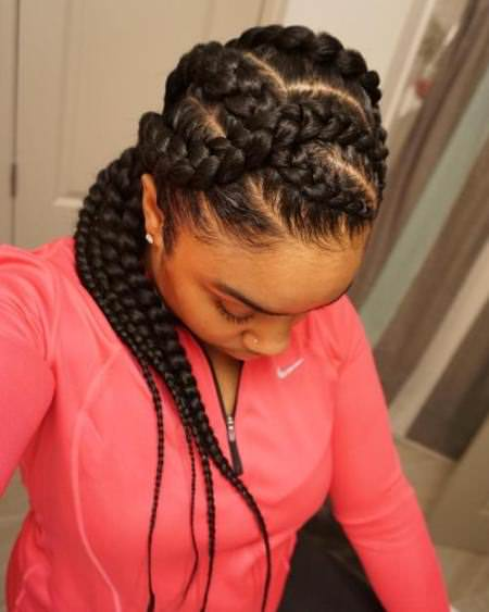 criss cross goddess braid natural braided hairstyles