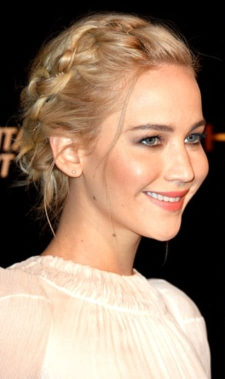 crown braided celebrity looks with long blonde hairstyles