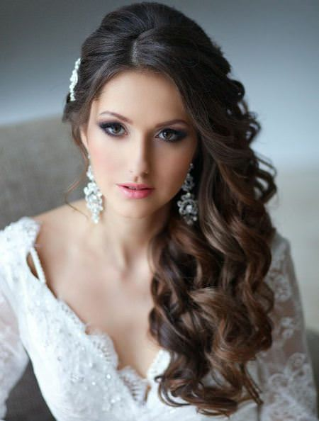 curly downdo bridal hairstyles