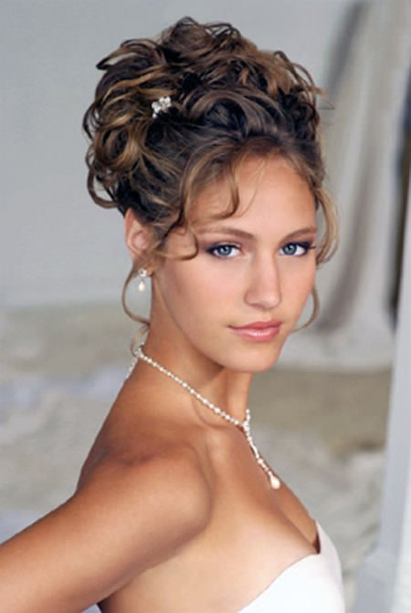 curly updo wedding hairstyles for medium hair