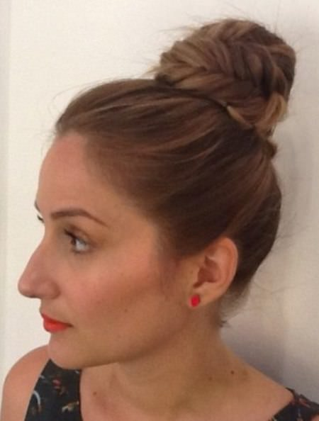 easy fishtail top knot updo updos for long hair