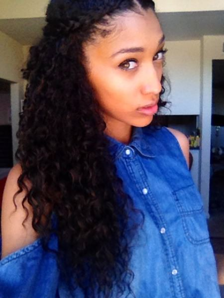 easy hairstyles for naturally curly hairstyles for long natural hair