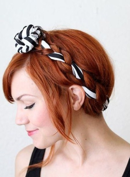 easy updo with fabric maiden braid updos for long hair