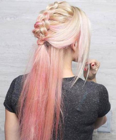 edgy ombre braided mohawks