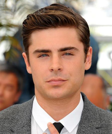 elegant combed back hairstyles Zac Efron Hairstyles