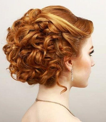 elegant curled prom hairstyle updos for long hair