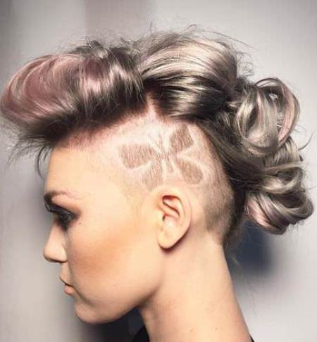 etched design braided mohawks