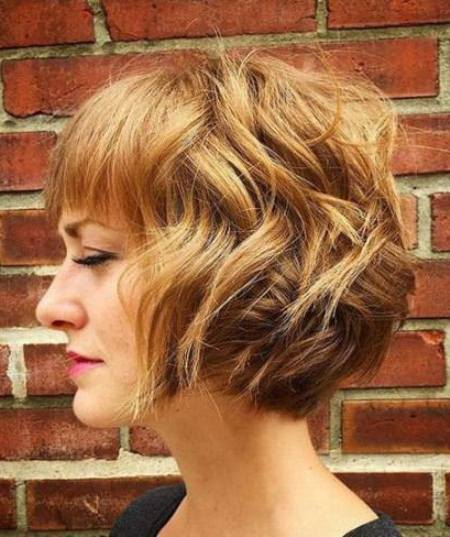 fun full bodied bob with bangs short fringe Hairstyles