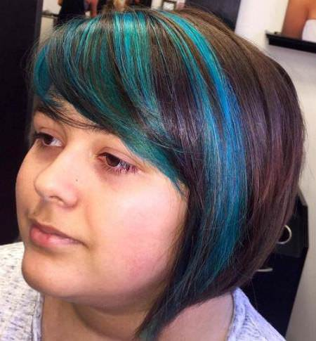 funky side swept bangs for round faces