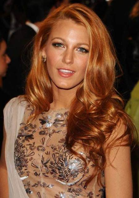 golden red curls long red hairstyles