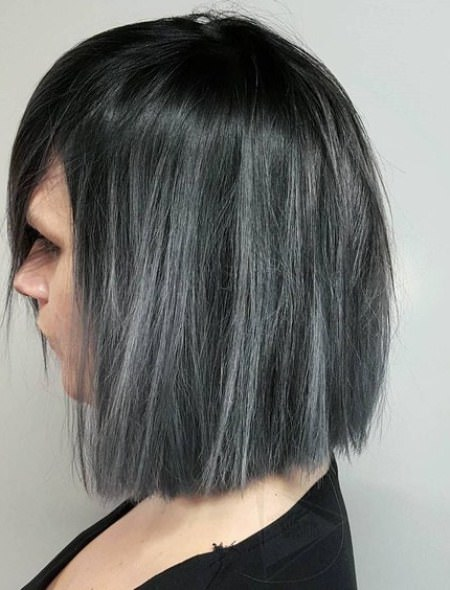 gothic gray hair trend