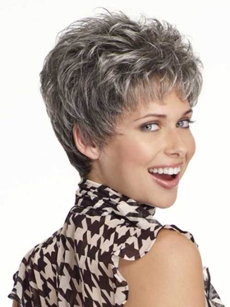 gray pixie hairstyles for gray hair