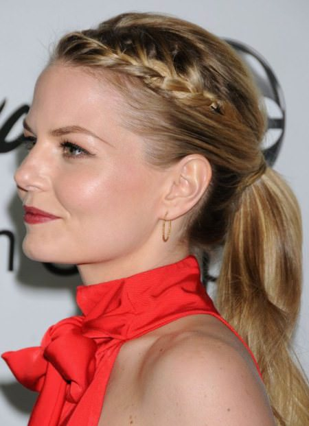 high braided ponytail celebrity looks with long blonde hairstyles