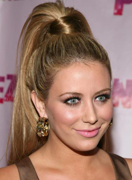 high ponytail hairstyles for long thick hair