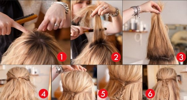 how to wavy A-line bouffant hairstyle for round faces