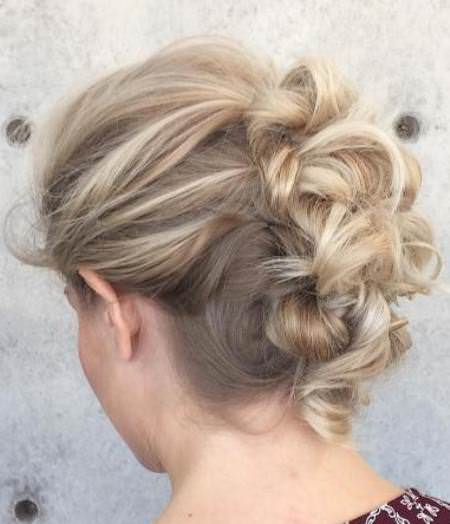 knotted updo for fine hair bun hairstyles