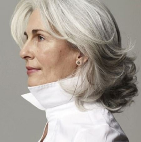 layered gray hairstyle with flicks hairstyles for gray hair