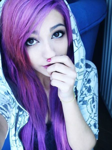 lilac emo hairstyles for girls