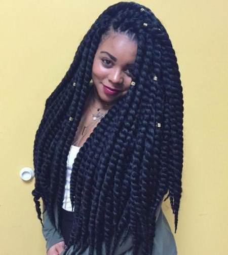 long and thick twist hairstyles for natural hair