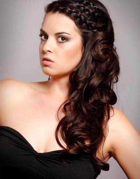 long curly hairstyle with tri braid hairstyles for long thick hair