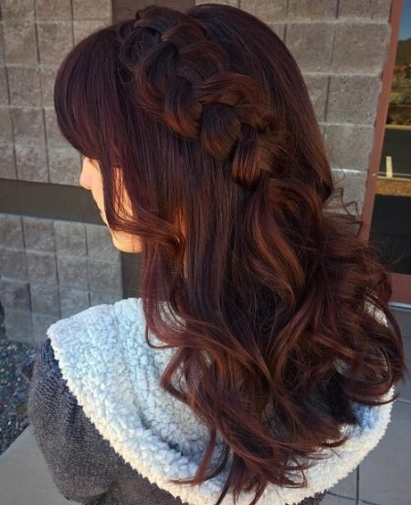 long hair with a standout braid Long Straight Hairstyles and Haircuts