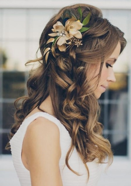 long romantic curls for bride hairstyles for brides and bridesmaids