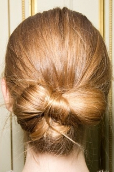 low bow bun Formal and classy bun hairstyles