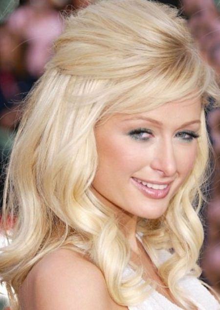 low curls medium hairstyles for round faces
