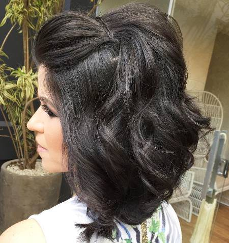 marvelous half up half down style hairstyles for brides and bridesmaids