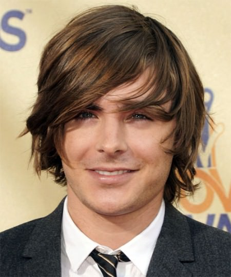 medium haircut with point cut ends Zac Efron Hairstyles