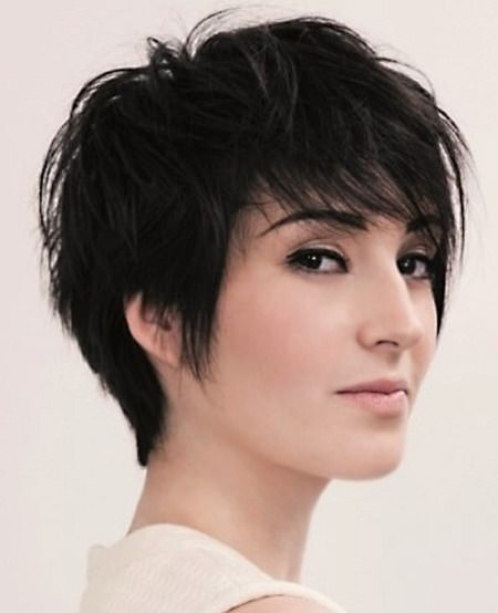 messy pixie with bangs short haircuts for girls