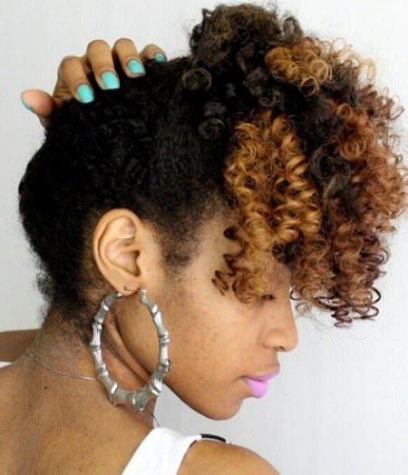 natural curly tie up updos for natural hair