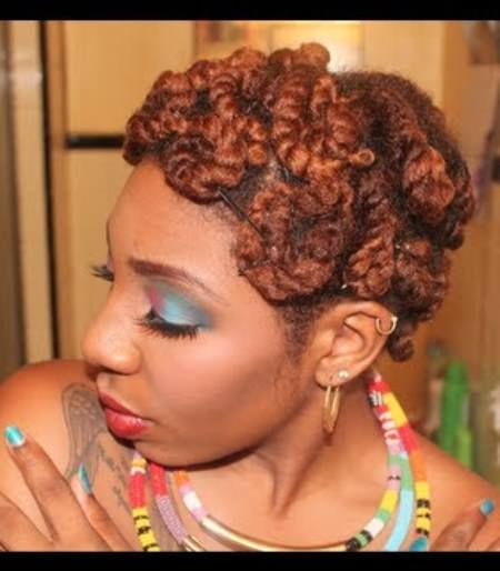 pin curl twist updo updos for natural hair