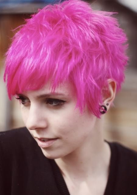 pink pixie emo hairstyles for girls