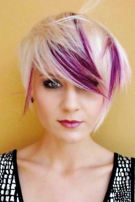 pixie with shades of purple short haircuts for girls