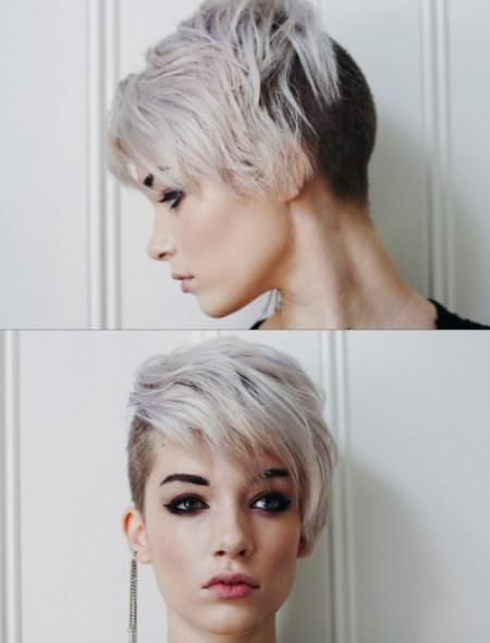 punk pixie hairstyles for gray hair