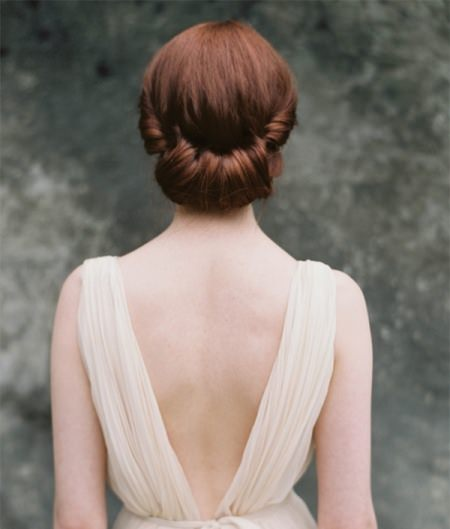 rolled chignon updos for long hair