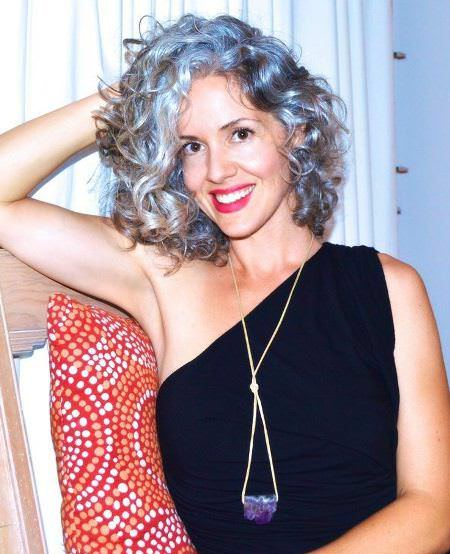 romantic gray curls hairstyles for gray hair