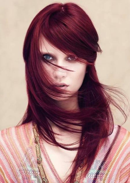 ruby red shades of red hair for women