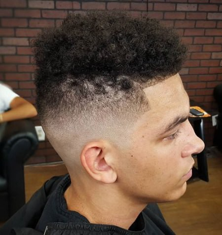 shaved side curly top Shaved Sides Hairstyles and Haircuts for Men