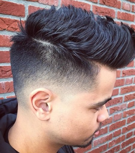 shaved side with pomp Shaved Sides Hairstyles and Haircuts for Men