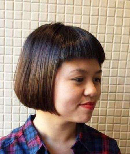short and sweep bob with bangs short fringe Hairstyles