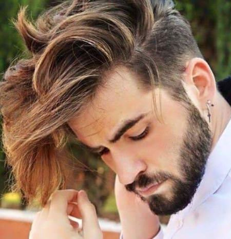 short hairstyle for men with angular fringe Cool Men Hair Looks
