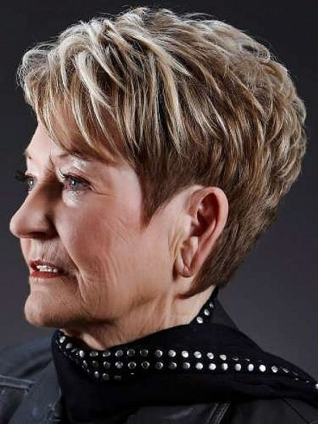 short layers with highlights haircuts for women over 70